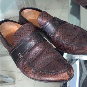 Men's Gucci Diamanté Leather Penny Loafer Brown